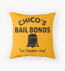 Chico's Bail Bonds Throw Pillow