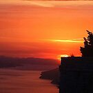 Sunset Off The Coast Of Dubrovnik by Fara