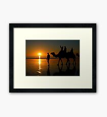 Camels on Cable Beach 1 Framed Print