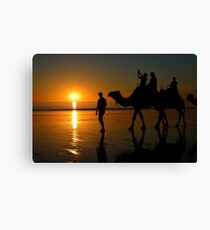 Camels on Cable Beach 1 Canvas Print