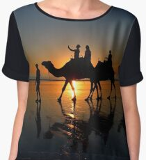 Camels on Cable Beach 2 Women's Chiffon Top