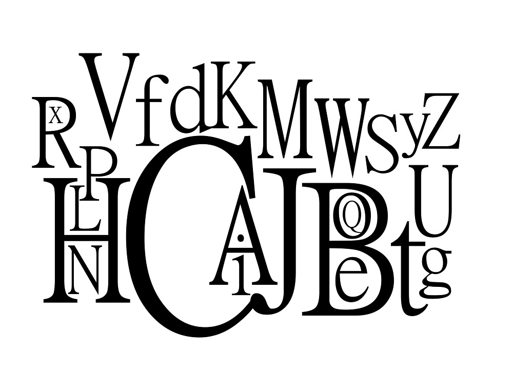 Sans Font Alphabet Soup by Frank Matheson