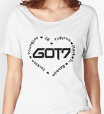 Camiseta ancha GOT7 corazón