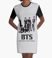 BTS Bangtan Boys Graphic T-Shirt Dress