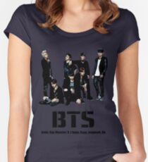 BTS Bangtan Boys Women's Fitted Scoop T-Shirt