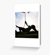 Swing Silhoutte Greeting Card