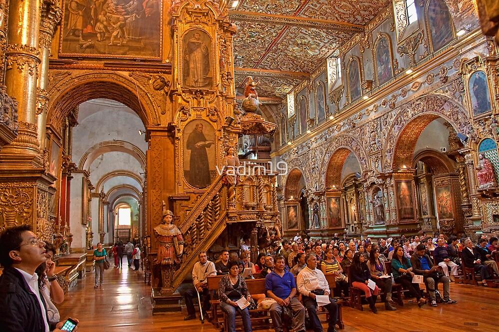Ecuador. Quito. Church of San Francisco. Interior. by vadim19