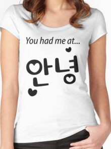 You had me at annyeong! Women's Fitted Scoop T-Shirt