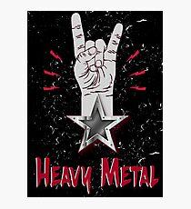 Heavy Metal Design T-shirt thunder slayer megadeth pantera Photographic Print