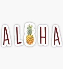 Aloha - Pineapple Sticker