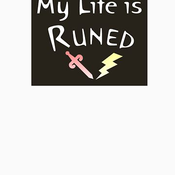 My Life is Runed - Sticker - Version 2 by SteadyClicks