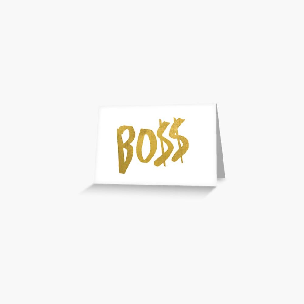 Logos Bo $$ Boss de Fifth Harmony Tarjetas de felicitación