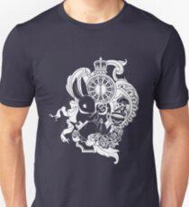 White Rabbit in White Unisex T-Shirt