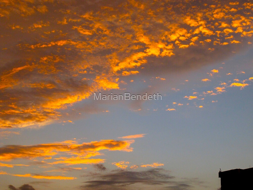 Gold spackled clouds by MarianBendeth