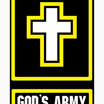 God's Army Black background by Heronemus13