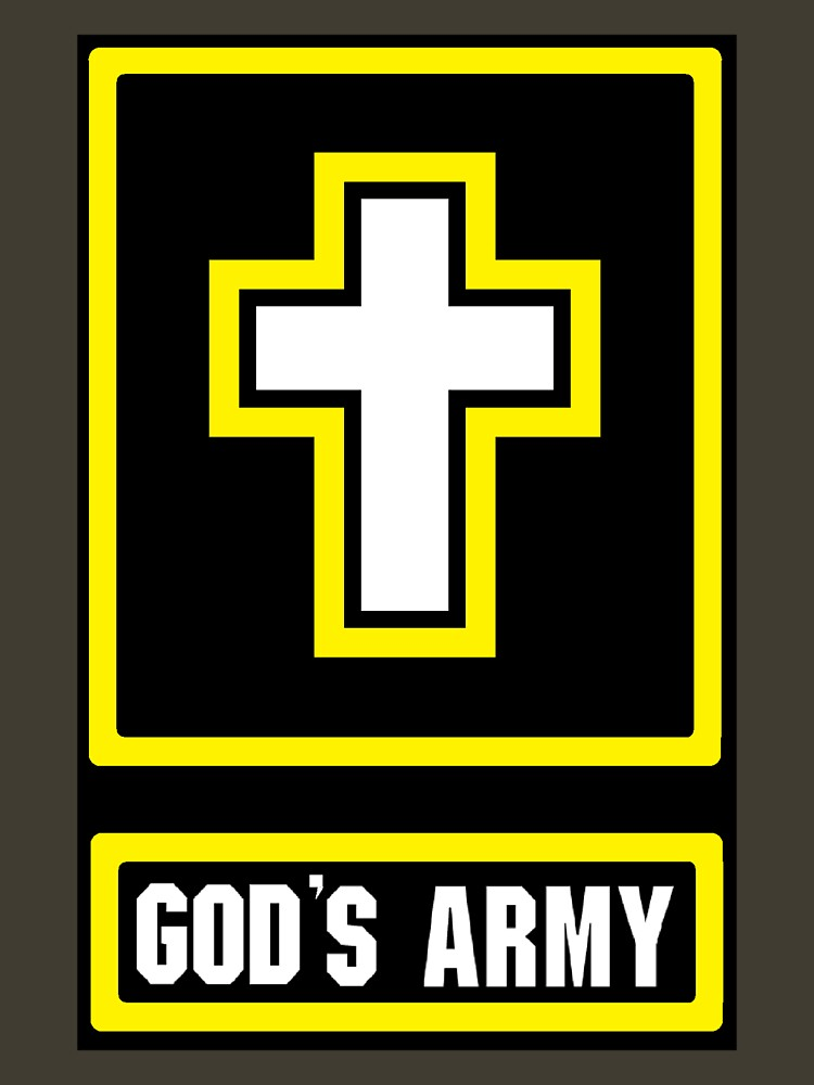 God's Army Black background by Heronemus13