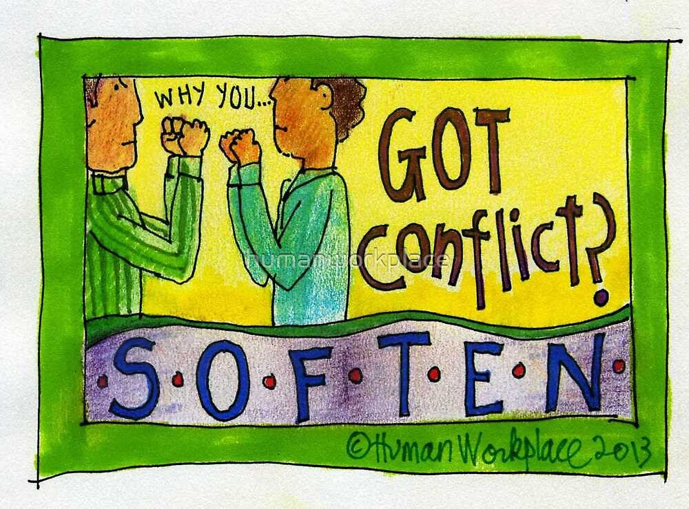 Got Conflict? Soften Poster, Print and Notecards by humanworkplace