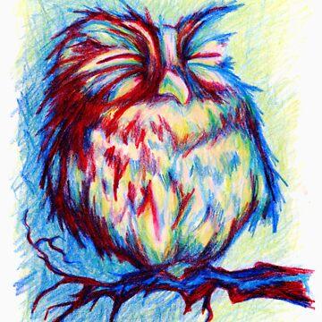 cute baby owl by justL
