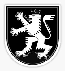 The Lion of Heidelberg (white on black) Sticker