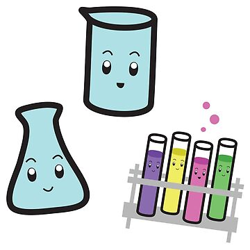Flasks & Test Tube Stickers by scicouture