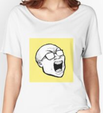 Theneedledrop full-logo design Women's Relaxed Fit T-Shirt