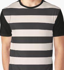 Elegant Black and Pink fashion Stripes Graphic T-Shirt