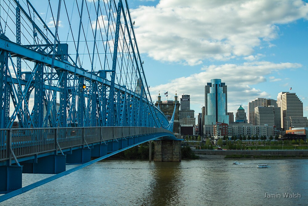 Roebling Bridge Cincinnati by Jamin Walsh