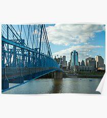 Roebling Bridge Cincinnati Poster
