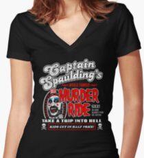 Captain Spaulding Murder Ride Women's Fitted V-Neck T-Shirt