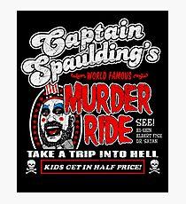 Captain Spaulding Murder Ride Photographic Print