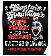 Captain Spaulding Fried Chicken & Gasoline Poster