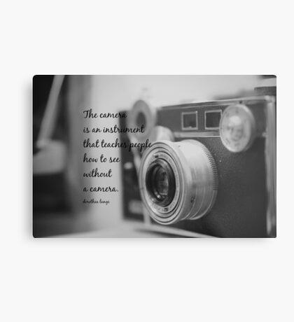 Dorothea Lange Camera Metal Print