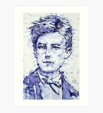 RIMBAUD portrait Art Print