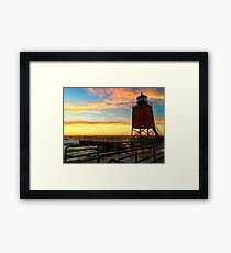 Charlevoix Sunset Framed Print