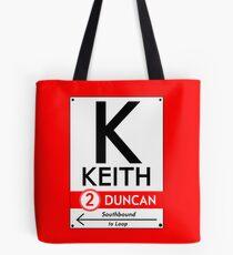 Retro CTA sign Keith Tote Bag