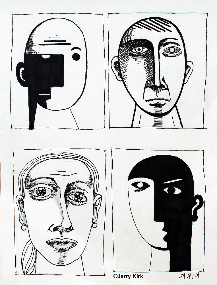 '4 Portraits of Imagined People' by Jerry Kirk