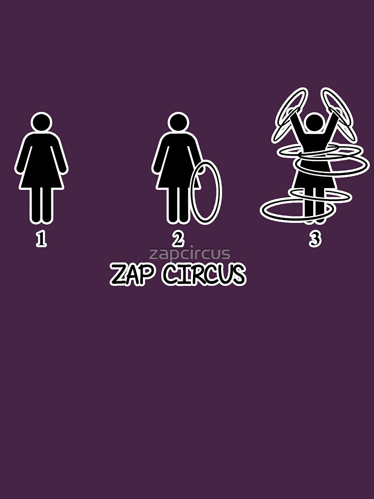 ZAP CIRCUS How to Hula Hoop white outline by zapcircus