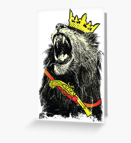 King will be King Greeting Card