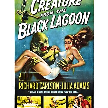 Creature from the Black Lagoon Retro Movie Pop Culture Art by BuzzArtGraphics