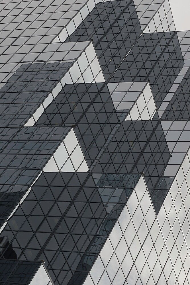 Mirrors of a glass building by Josef Pittner