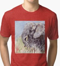 'Time to Retreat' - The Painting Tri-blend T-Shirt