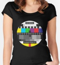 TV No Signal Women's Fitted Scoop T-Shirt