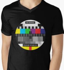 TV No Signal Men's V-Neck T-Shirt