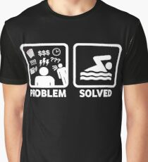 Funny Swimming Problem Solved Graphic T-Shirt