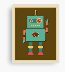 Fun Retro Robot Art Canvas Print