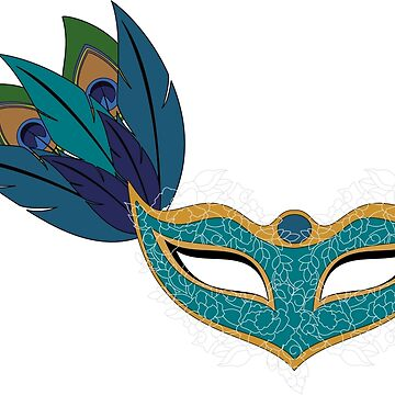 Blue Lace Masquerade Mask by KirstieRutter