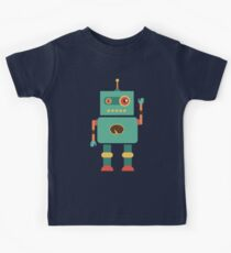 Fun Retro Robot Art Kids Clothes