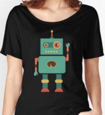Fun Retro Robot Art Women's Relaxed Fit T-Shirt