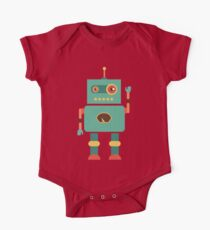 Fun Retro Robot Art One Piece - Short Sleeve