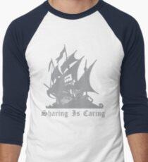 Pirate bay- Sharing is Caring Men's Baseball ¾ T-Shirt